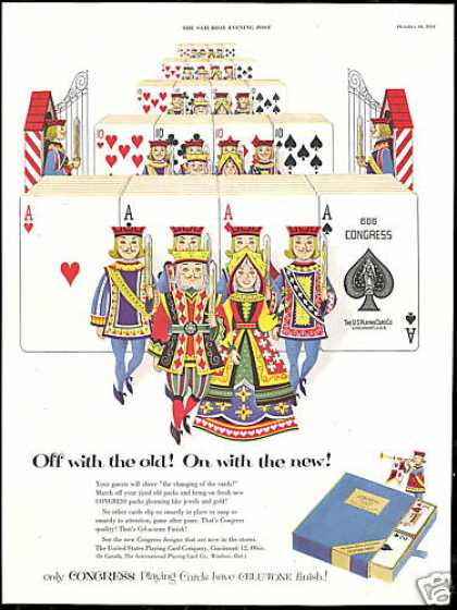 Congress Playing Cards King Queen (1953)