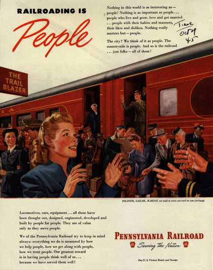 Pennsylvania Railroad – Railroading Is People (1945)
