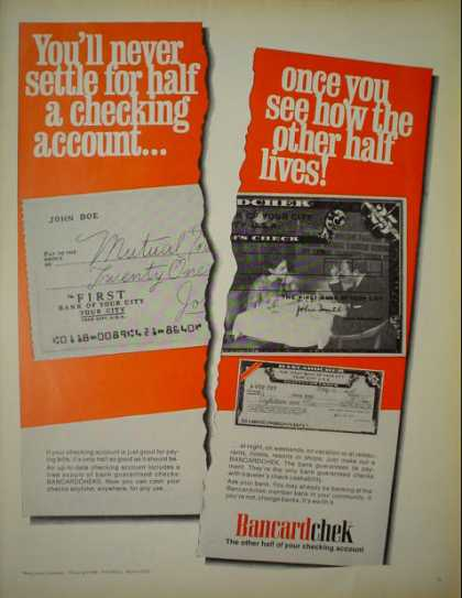 Bancardchek The other side of your checking account (1968)