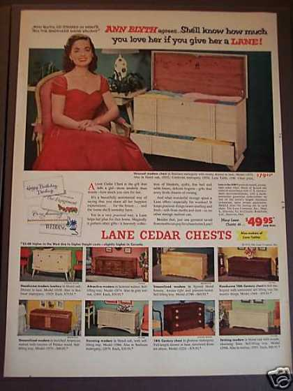 Lane Cedar Chests Ann Blyth (1953)