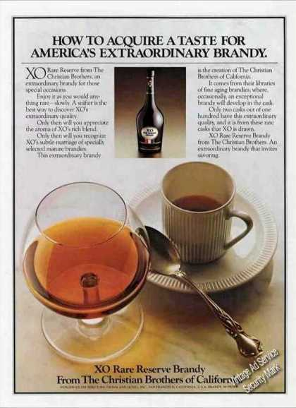 Xo Rare Reserve Brandy From Christian Brothers (1978)
