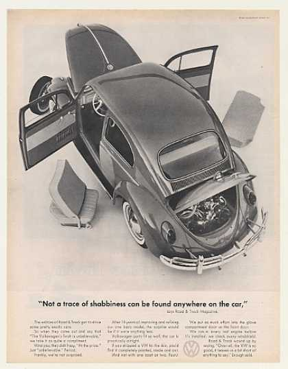 VW Volkswagen Beetle Not a Trace of Shabbiness (1962)