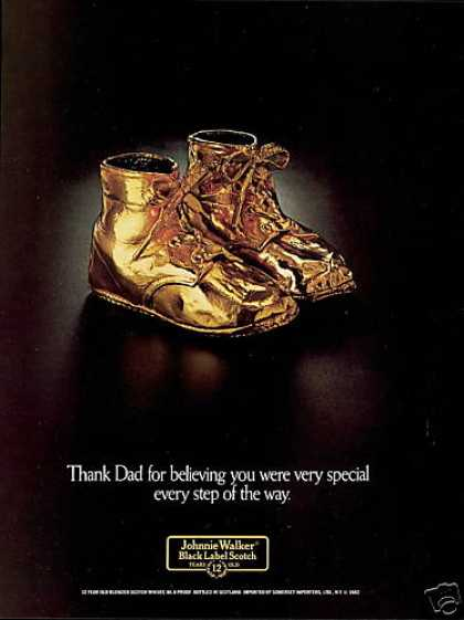 Bronze Baby Shoes Photo Johnnie Walker Scotch (1982)
