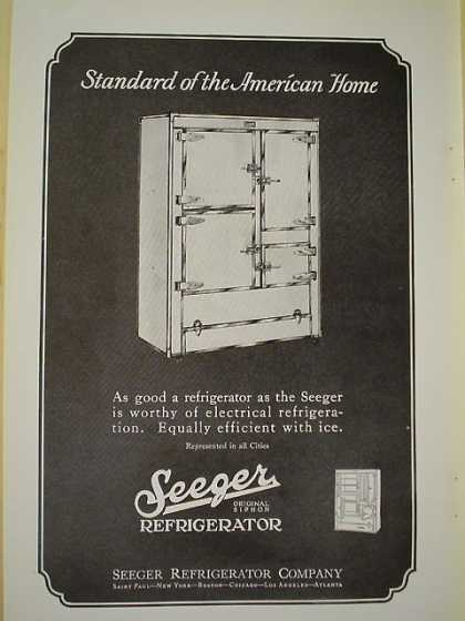Seeger Refrigerator AND Pittsburgh Plate Glass Spar Varnish (1926)