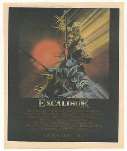 Excalibur Movie Vintage (1981)