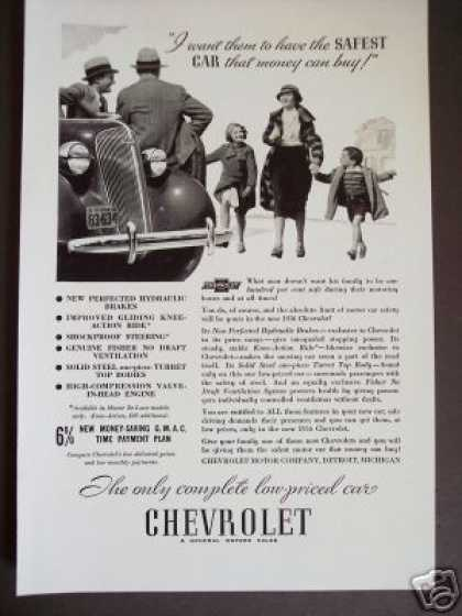 Original Chevrolet Chevy Safest Car Antique (1936)