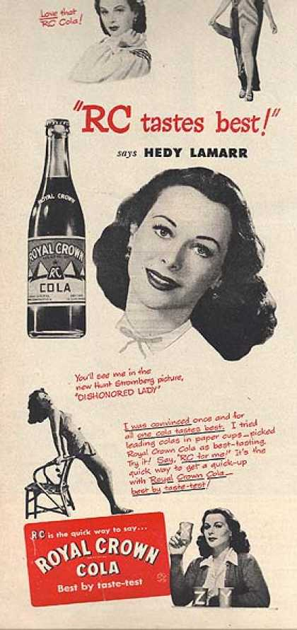 Royal Crown Cola – Hedy Lamarr (1947)