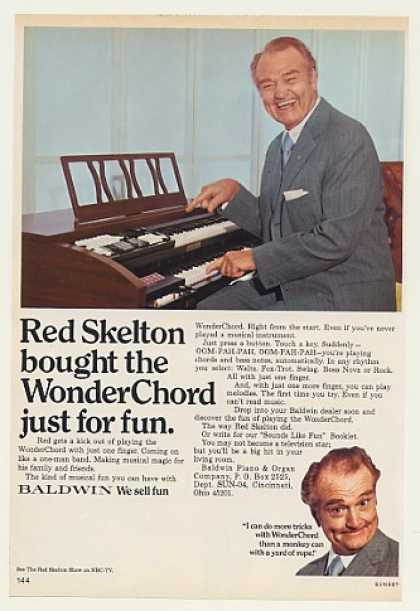 Red Skelton Baldwin WonderChord Organ Photo (1971)