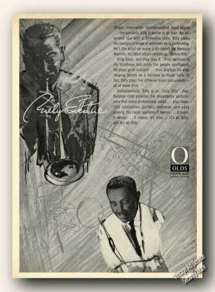 Billy Eckstine Drawings Olds Trumpet Promo (1964)