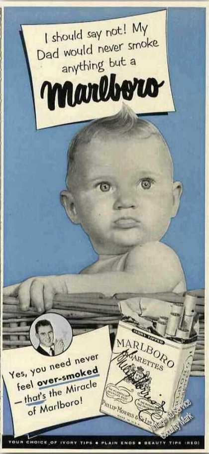 Marlboro Cigarettes Cute Baby Photo Collectible (1951)