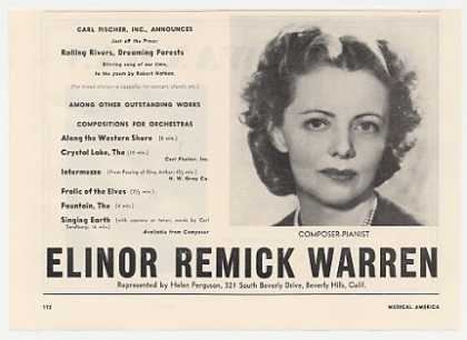 Elinor Remick Warren Photo Booking Promo (1953)