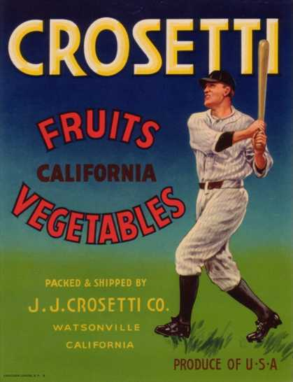 Crosetti Vegetable Label – Watsonville, CA