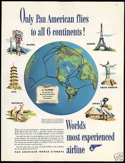 vintage airlines and aircraft ads of the 1940s  page 8