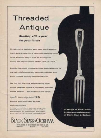 Black Starr & Gorham Silver Ware Antique (1957)