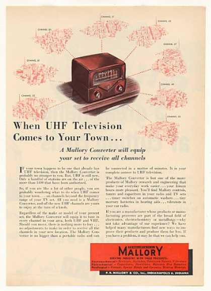 Mallory UHF Television TV Converter (1953)