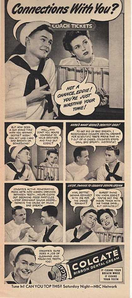 Colgate's Ribbon Dental Cream (1944)
