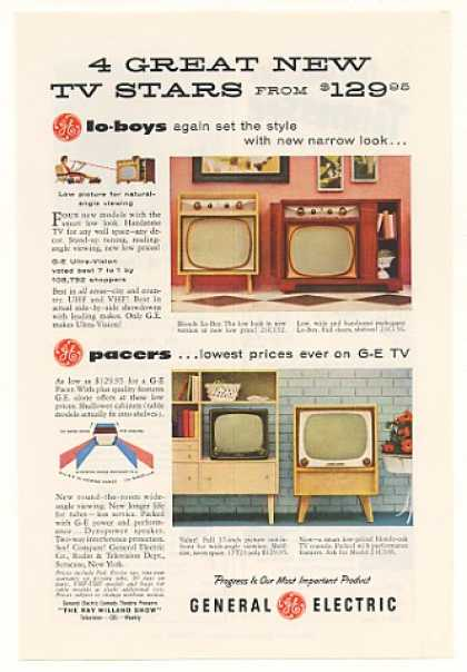 GE General Electric Lo-Boy Pacer TV Television (1955)