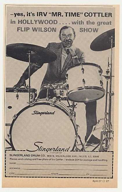 Irv Cottler Slingerland Drums Photo (1972)
