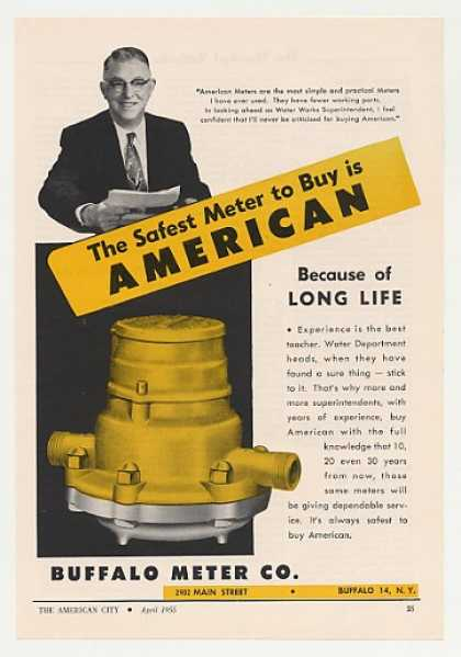 Buffalo Water Meter Safest Buy American (1955)