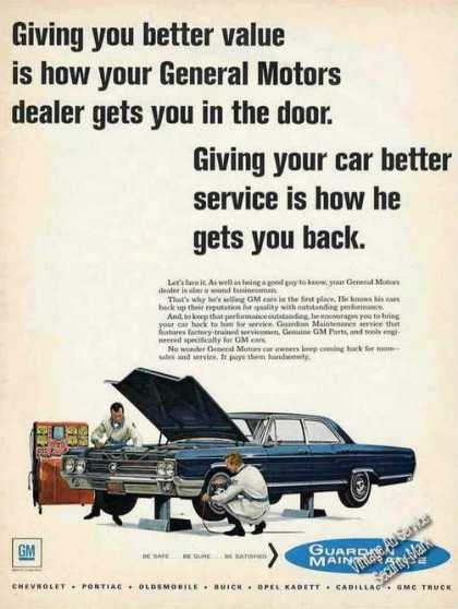 Buick Being Serviced Art Guardian Maintenance (1967)