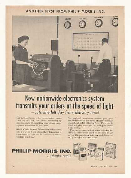 Philip Morris Cigarette Electronic Order System (1958)
