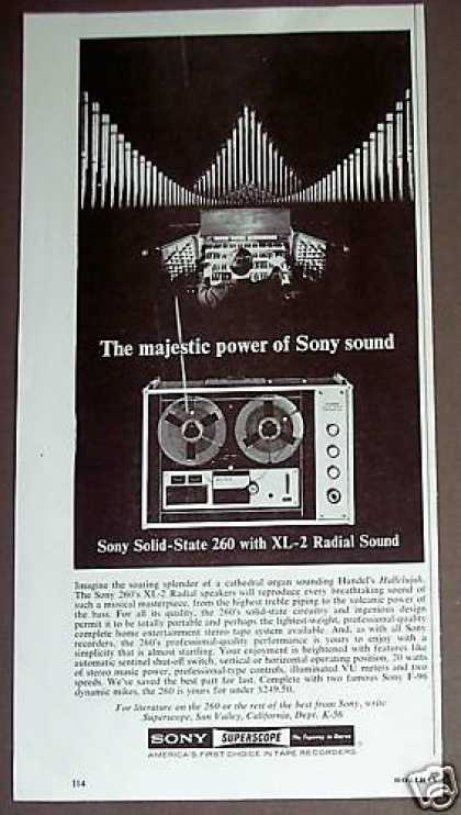 Sony 260 Reel To Reel Tape Recorder (1966)