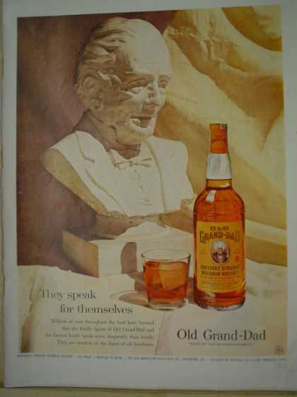 Old Granddad bourbon whiskey They speak for themselves (1957)