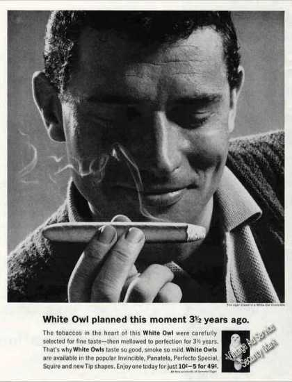 "White Owl Cigars ""Planned 3 1/2 Yrs Ago"" (1962)"