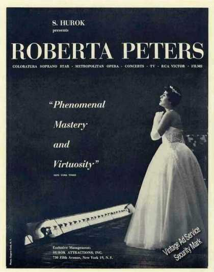 Roberta Peters Photo Opera/concerts/ (1959)