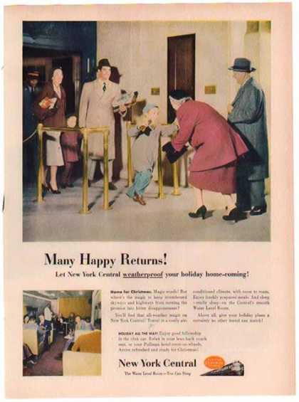 New York Central Train Holiday – Many Happy Returns (1948)