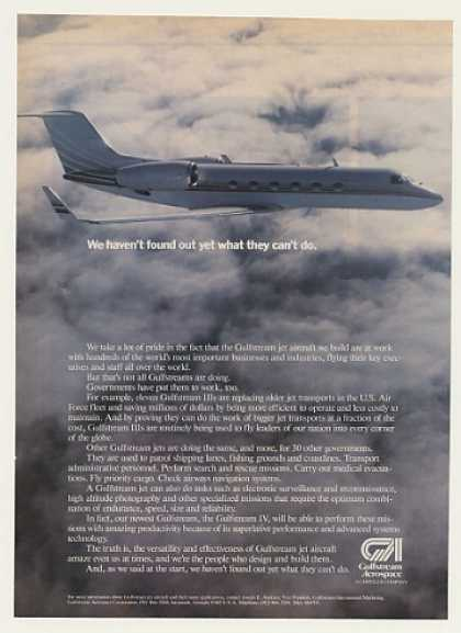 Gulfstream III Jet Aircraft Photo (1986)
