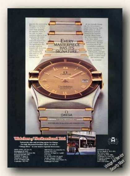 Omega Constellation Wristwatch Nice Uk Color (1983)