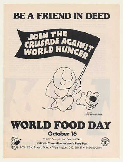 Tom Wilson Ziggy Cartoon World Food Day (1986)