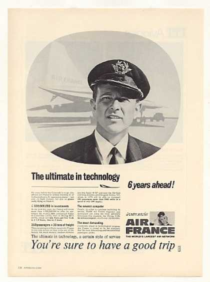 Air France Airlines Concorde Pilot Training (1968)
