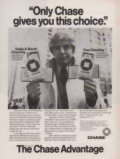 Chase Bank – Only Chase gives you this choice (1976)