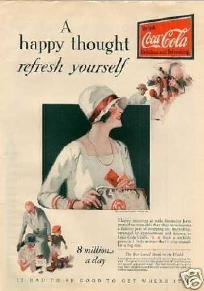 "Coca-cola Ad ""A Happy Thought... (1928)"