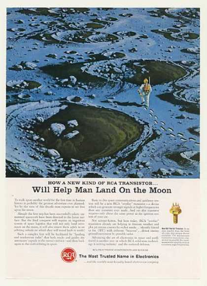 RCA Overlay Transistor Help Man Land on Moon (1965)