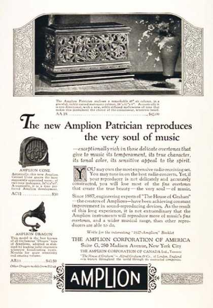 Amplion Patrician Amplifier (1926)