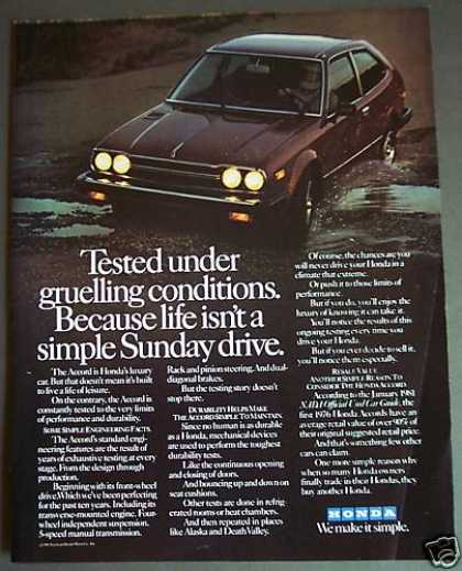 Original Honda Accord Luxury Car (1981)