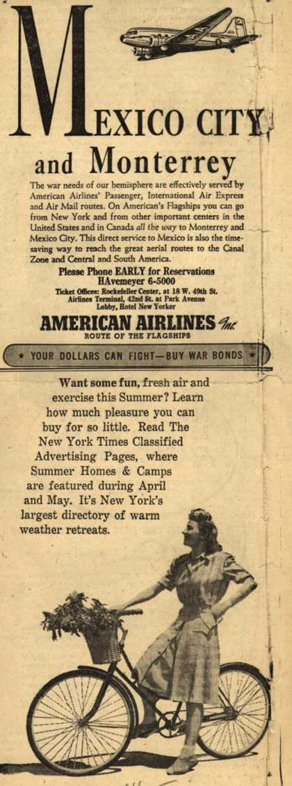 American Airline's Mexico City and Monterrey – Mexico City and Monterrey (1943)