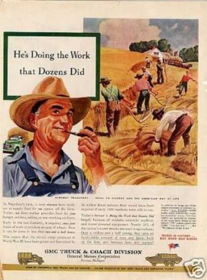 "Gmc Truck Ad ""He's Doing the Work... (1945)"