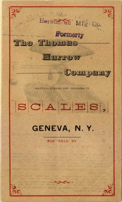 Thomas Harrow Co.'s scales – The Thomas Harrow Company Manufacturers And Dealers In Scales