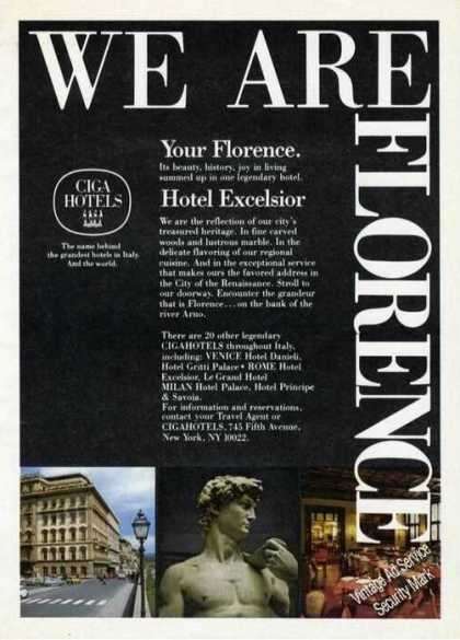 Hotel Excelsior Florence Italy Photos Travel (1980)