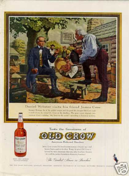 "Old Crow Bourbon Whiskey Ad ""Daniel Webster... (1959)"