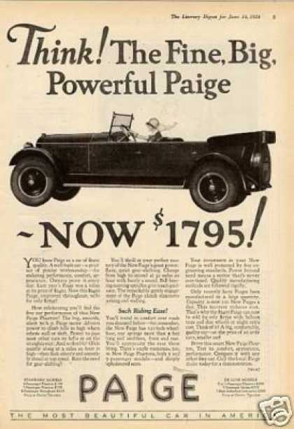 Vintage car advertisements of the 1920s page 8