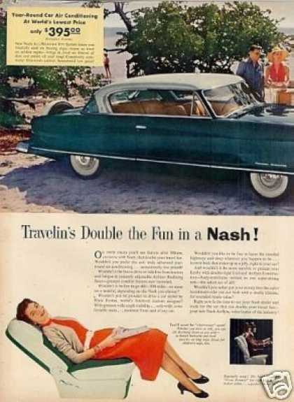 Nash Cars Ad 2 Page (1954)
