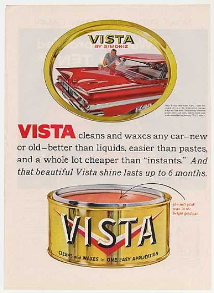 Red Chevy Impala Trunk Vista Car Wax (1960)