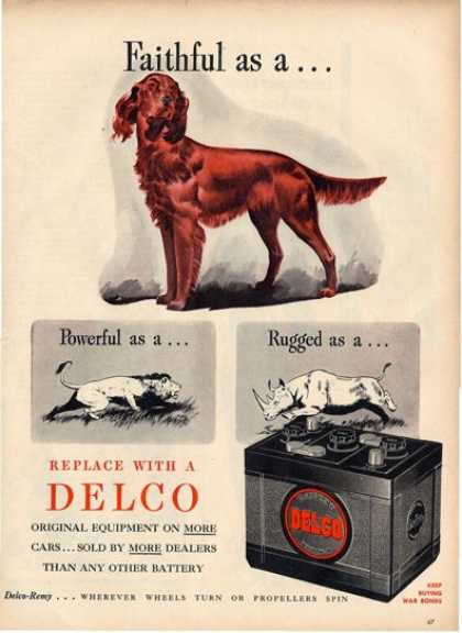 Delco Irish Setter Illustration T (1945)