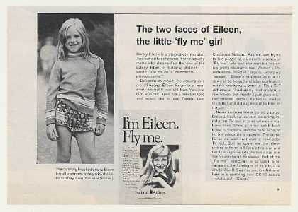 '72 National Airlines Fly Me Girl Eileen Salyer Article (1972)