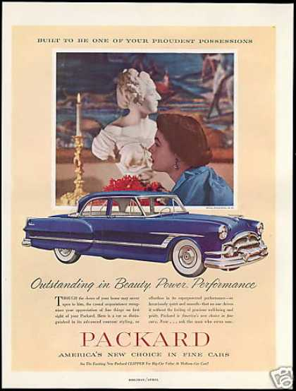 Blue Packard 4 Door Car Vintage (1953)
